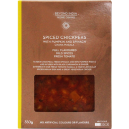 Photo of Beyond India Home Dining Spiced Chickpeas With Pumpkin & Spinach 350g