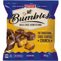 Photo of Menz Bumbles Milk Chocolate Coated Honeycomb 150g