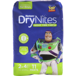 Photo of Huggies Dry Nites Boys Size 2-4 Years 11pk