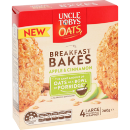 Photo of Uncle Tobys Oats Cereal Bar Breakfast Bakes Apple & Cinnamon 260g