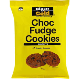 Photo of Black & Gold Choc Fudge Cookies 325gm