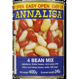 Photo of Annalisa 4 Bean Mix 400gm