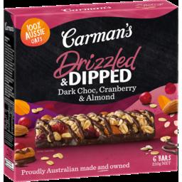 Photo of Carmans Muesli Bars Dark Choc Cranberry & Almond 210g