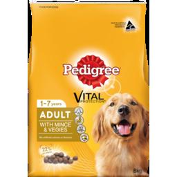 Photo of Pedigree Dog Food, Dry Meaty Bites Mince & Vegetable 8kg