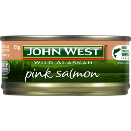 Photo of John West Wild Alaskan Pink Salmon 105g 105g