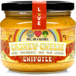 Photo of Peace, Love & Vegetables - Cashew Cheese - Chipolte - 270g