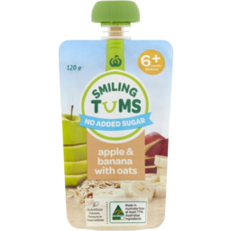 Photo of WW Smiling Tums Baby Food Apple Banana Oats 120g