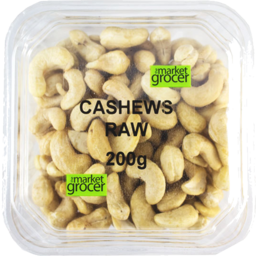 Photo of The Market Grocer Cashews Raw 200g