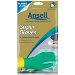 Photo of Ansell Rubber Gloves Large Size 9