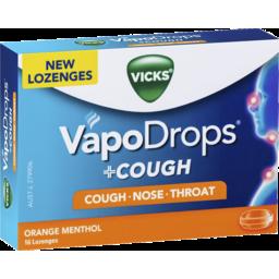Photo of Vicks Vapodrops +Cough Orange Menthol 16 Lozenges