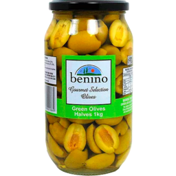 Photo of Benino Green Olive Halves 1kg
