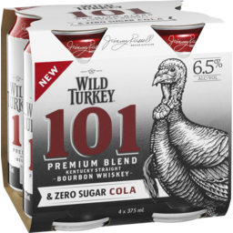 Photo of Wild Turkey 101 Bourbon & Zero Cola Cans