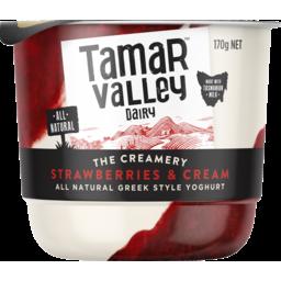 Photo of Tamar Valley The Creamery Strawberries & Cream Greek Style Yoghurt 170g