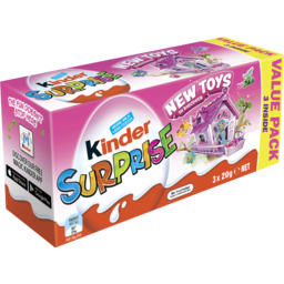 Photo of Kinder Surprise Pink Value Pack - 3 X 20g Eggs Inside