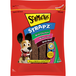 Photo of Schmackos Strapz with Chicken, Liver & Beef Treats for Dogs 500g