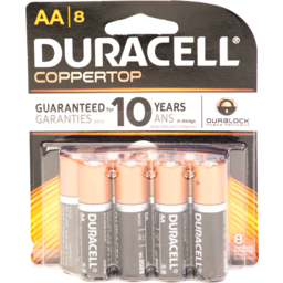 Photo of Duracell Coppertop Aa Batteries - 8 Ct