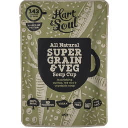 Photo of Hart & Soul All Natural Super Grain & Veg Soup Cup 100g