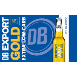 Photo of Db Export Beer Gold Extra Low Carb Bottle 24x330ml