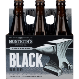 Photo of Monteith's Black 330ml Bottles 6 Pack