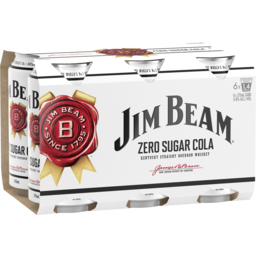 Photo of Jim Beam & Zero Cola Cans