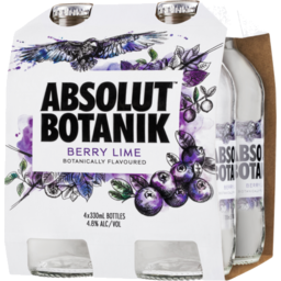 Photo of Absolut Botanik Berry Lime Bottles