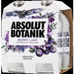 Photo of Absolut Botanik Berry Lime Bottles