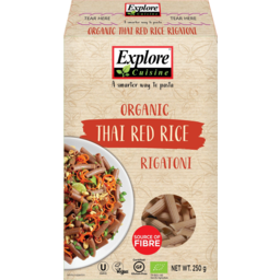 Photo of Explore Cuisine Rigatoni Pasta Thai Red Rice Organic 250g