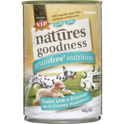 Photo of Natures Goodness Grain Free Lamb And Rosemary With Steamed Vegetables Wet Dog Food 400g