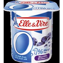 Photo of Elle & Vire 0% Fat Blueberry Yogurt