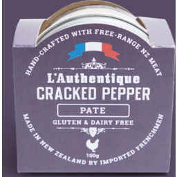 Photo of L'Authentique Pate Cracked Pepper 100g