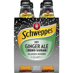 Photo of Schweppes Dry Ginger Ale Diet 300ml 4 Pack