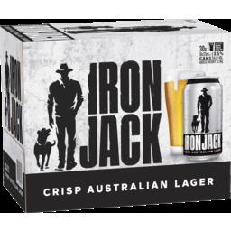 Photo of Iron Jack Crisp Australian Lager Cans