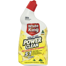 Photo of White King Power Clean Toilet Bleach Gel Lemon 700ml