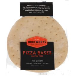 Photo of Bakeworks Pizza Bases Gluten Free 2 Pack