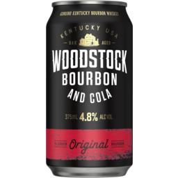 Photo of Woodstock Bourbon & Cola 375ml