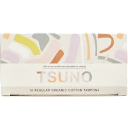 Photo of Tsuno Cotton Tampons Regular X16