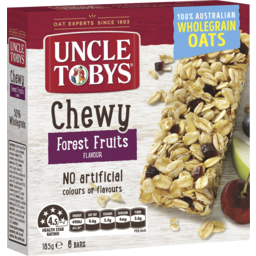 Photo of Uncle Tobys Chewy Forest Fruits Bars 6 Pack