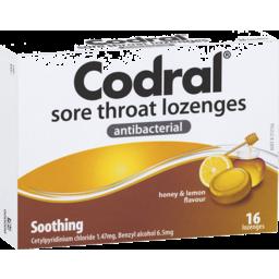 Photo of Codral Lozenge Honey Lemon 16s
