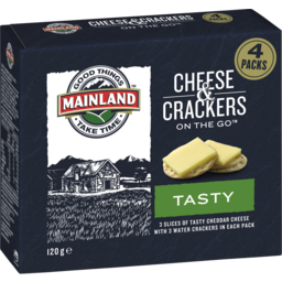 Photo of Mainland On The Go Tasty Cheddar Cheese & Crackers 120 G (4 Packs)