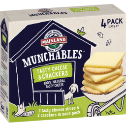 Photo of Mainland Munchables Tasty Cheese & Crackers 4 Pack X 30 G