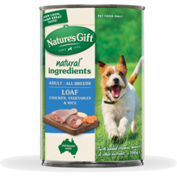 Photo of Nature's Gift Natures Gift Loaf Chicken, Rice & Vegetables Wet Dog Food 700g