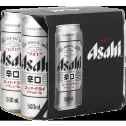 Photo of Asahi Super Dry Can 500ml 6 Pack