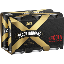 Photo of Black Douglas & Cola Can 375ml 6 Pack