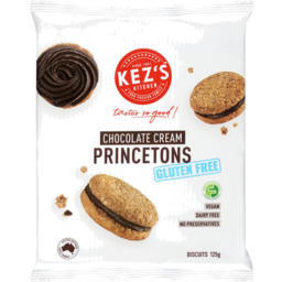 Photo of Kez's Kitchen Gluten Free Princetons Chocolate Cream 125g