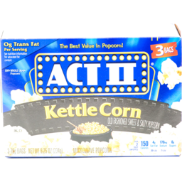 Photo of Act Ii Microwave Popcorn Kettle Corn - 3 Ct