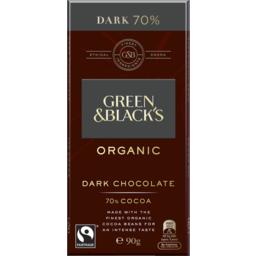 Photo of Green & Black's Organic Dark Chocolate 70% 90g