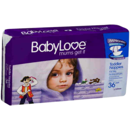 Photo of Babylove Nappies Toddler 9-14kg 36pk