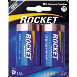 Photo of Rocket Battery Alkaline D 2pk