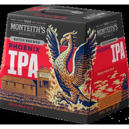 Photo of Monteiths Batch Brewed Phoenix IPA 5% 330ml Bottles 12 Pack