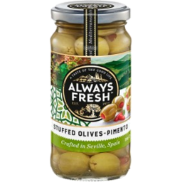 Photo of Always Fresh Olives Spanish Pimento Stuffed 235g